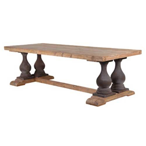 Wooden Dining Table with PTD Base