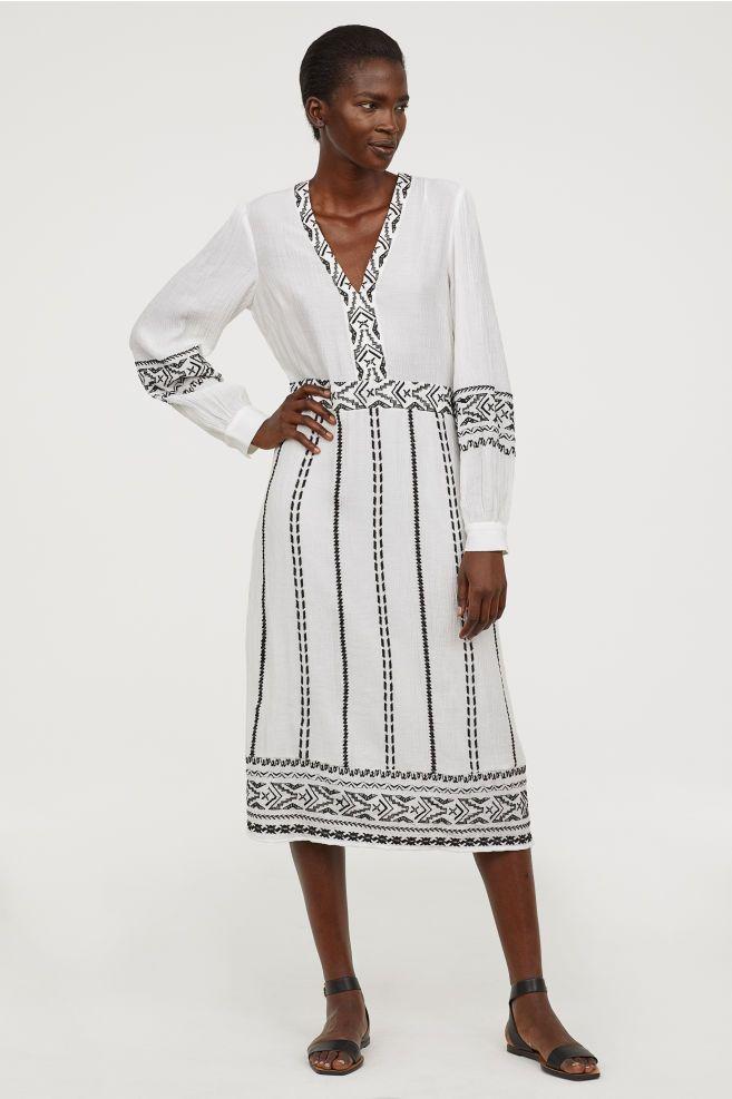 f2b18b659c5c5 Embroidered Dress | Dresses | White embroidered dress, Dresses ...