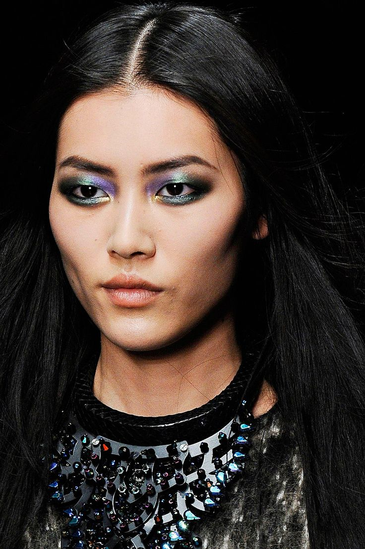 Pat McGrath's handiwork at Roberto Cavalli. Gorgeous.
