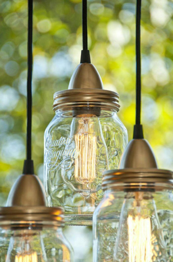 ber ideen zu kronleuchter aus einmachgl sern auf pinterest einmachglas leuchten glas. Black Bedroom Furniture Sets. Home Design Ideas