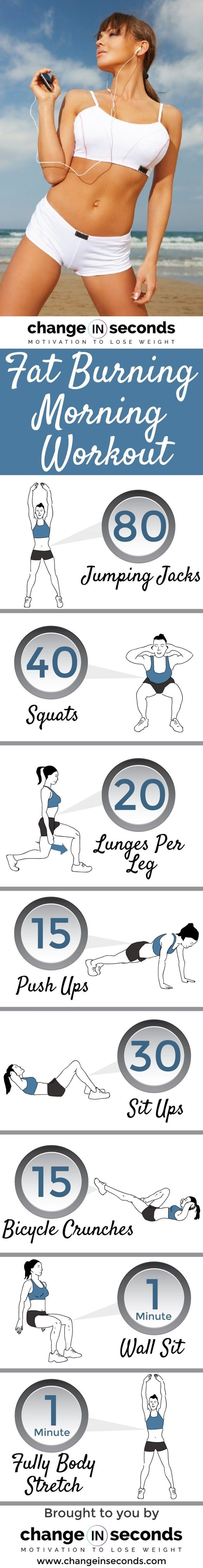 Fat Burning Morning Workout www.changeinsecon...