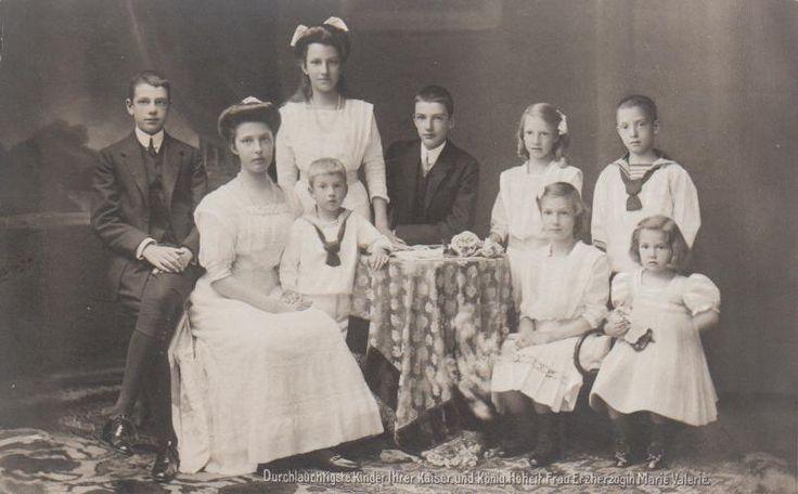 Marie Valérie Mathilde Amélie  et l'archiduc François-Salvator de Habsbourg-Toscane
