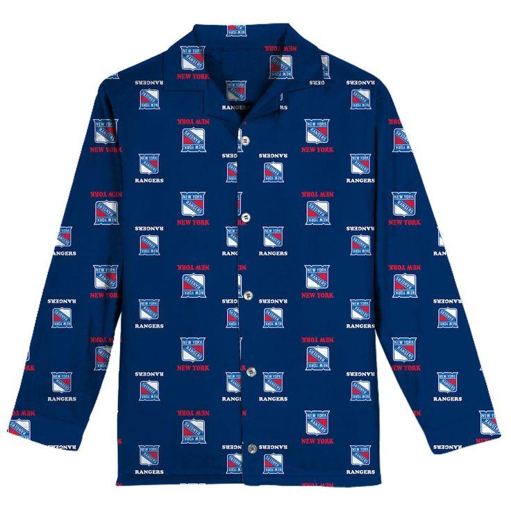 Boys 8-20 New York Rangers Coat Pajama Set, Size: Small, Blue Other