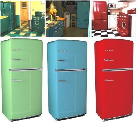 Where can you buy a baby blue old style fridge?