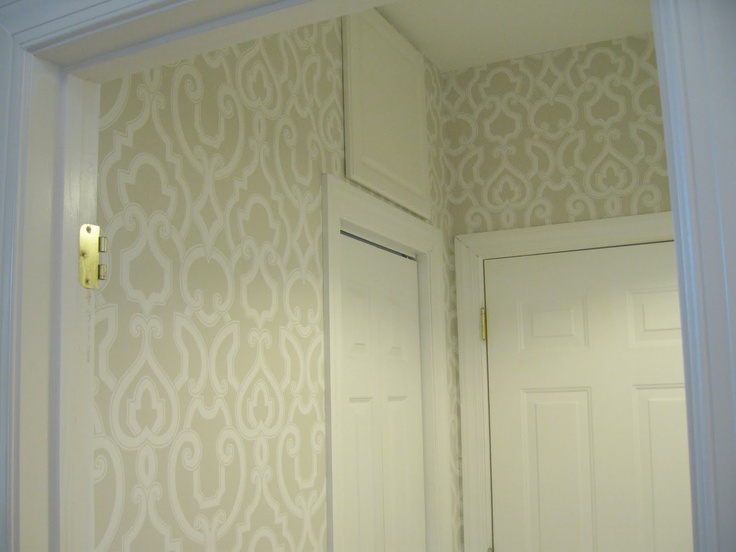Thibaut wallpaper for laundry room