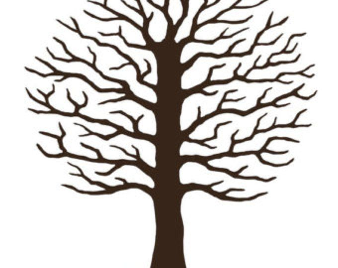 Tree Guest Book di nozze, nozze albero alternativa, impronte digitali firma albero, Custom guestbook, colore personalizzato, testo - digitale JPEG stampabile