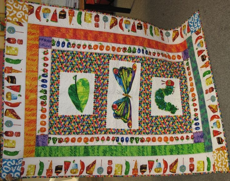 Marlyn's Very Hungry Caterpillar quilt