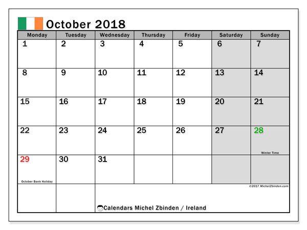 november 2018 calendar ireland november calendar ireland january calendar irish