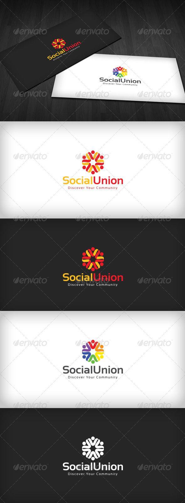 Social Union Logo Design Template Vector #logotype Download it here: http://graphicriver.net/item/social-union-logo/2123631?s_rank=744?ref=nexion
