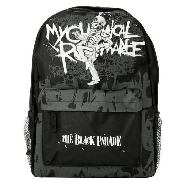 My Chemical Romance The Black Parade Backpack Hot Topic ❤ liked on Polyvore featuring bags, backpacks, day pack backpack, daypack bag, rucksack bags, canvas backpack and hot topic backpack