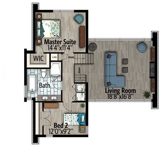 Plan 90300pd striking modern house plan