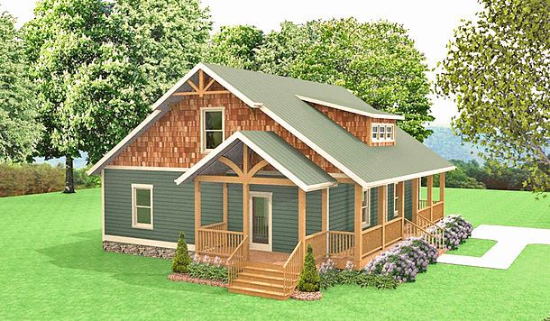 Custom and pre fabricated timber frame homes mid century for Century custom homes