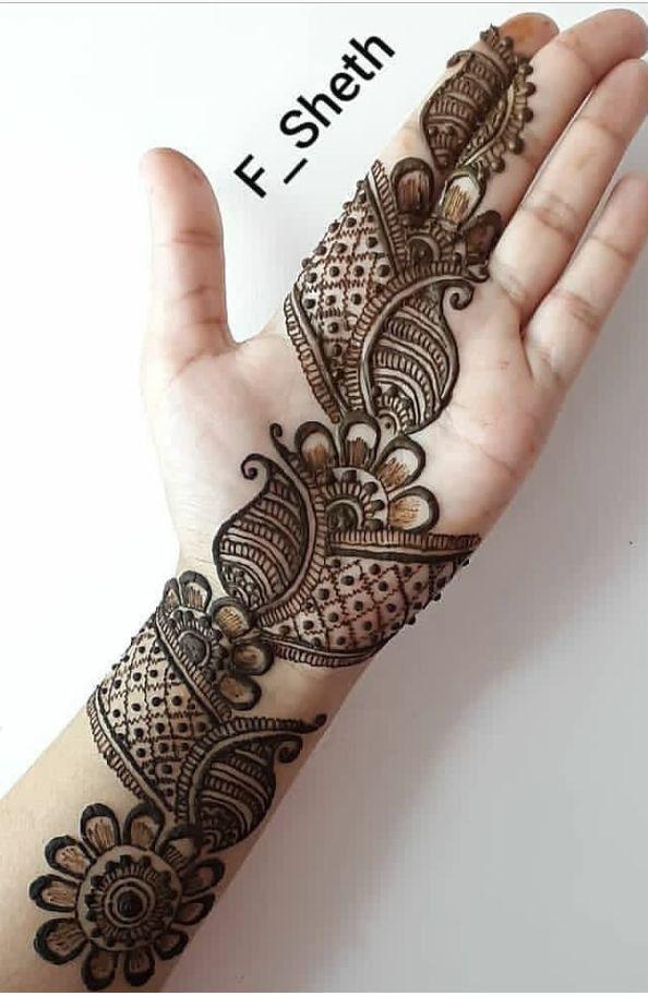 arabian mehndi simple design