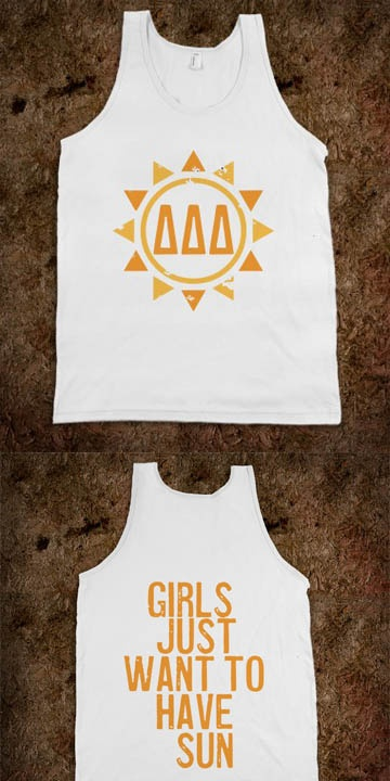 Delta Delta Delta Frat Tanks - Sorority Shirts. CLICK HERE to purchase :) Buy 1 or 100!