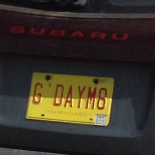 G'Day Mate - Aussie car number plate ...