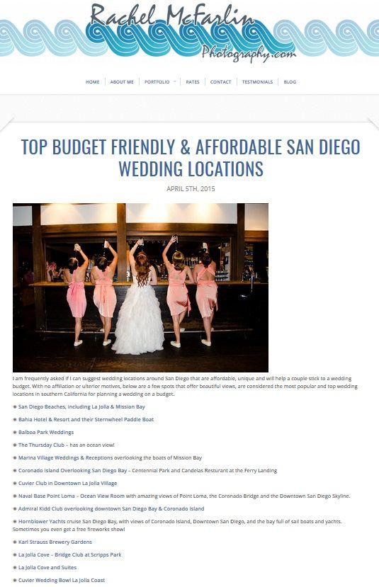 Top Budget Friendly Affordable San Diego Wedding Locations