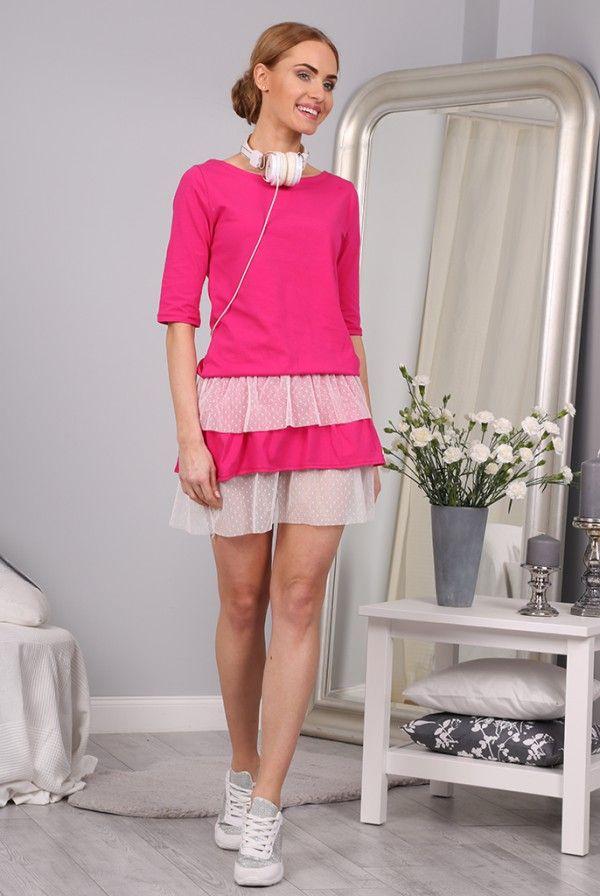 Sukienka Amarantowa  2827