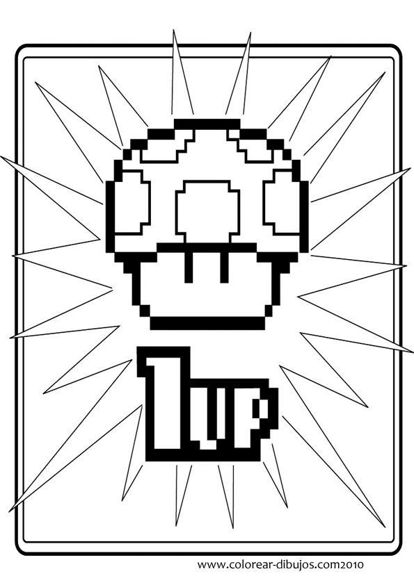 Fantástico Libro De Colorear Super Mario Componente - Dibujos Para ...