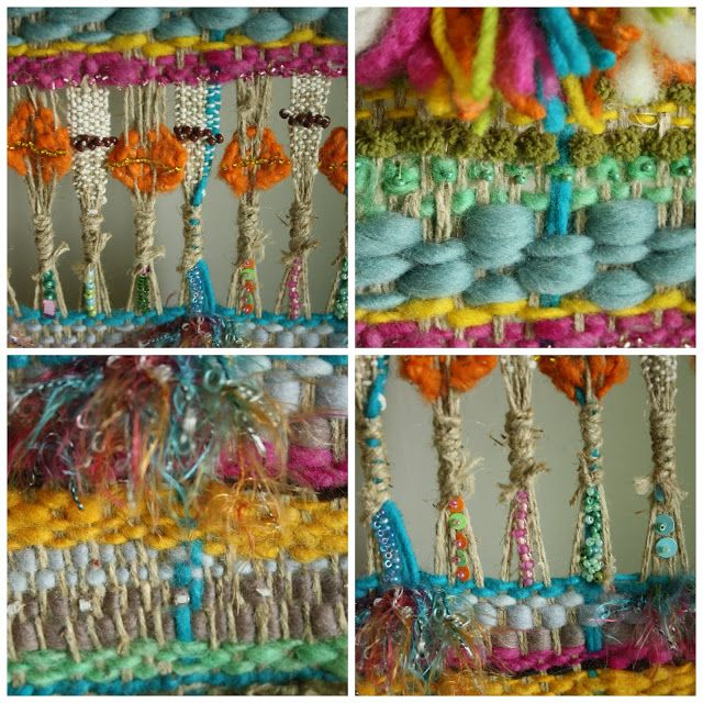 Detalle de tapiz colorido