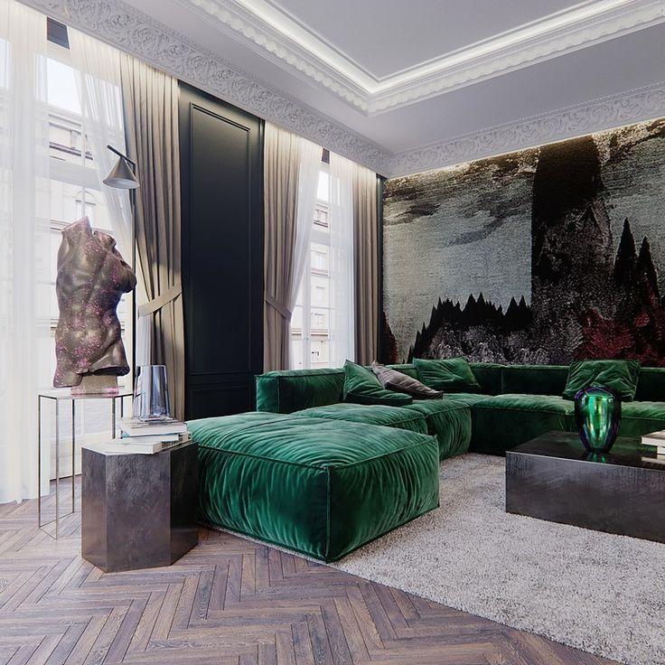 Maison Noire – Maisonette-Apartment für eine französische Familie / Rosko Design