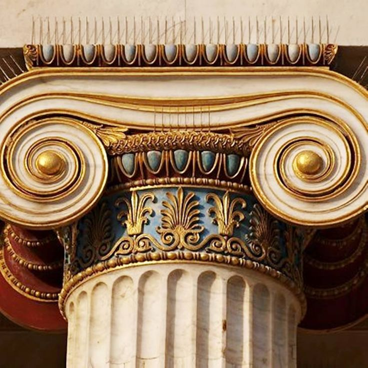 *GREECE ~ Η κομψότητα ενός ιωνικού κιονόκρανου ! Elegance of an ionic Column !