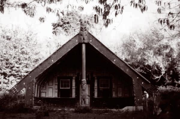 whare 'Poutama', now relocated to Koroniti Marae,