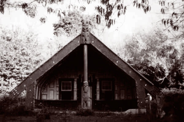 whare 'Poutama', now relocated to Koroniti Marae,