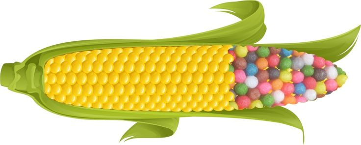 No OGM Corn starch!!!!! Only  food colour  100 % Made in Italy