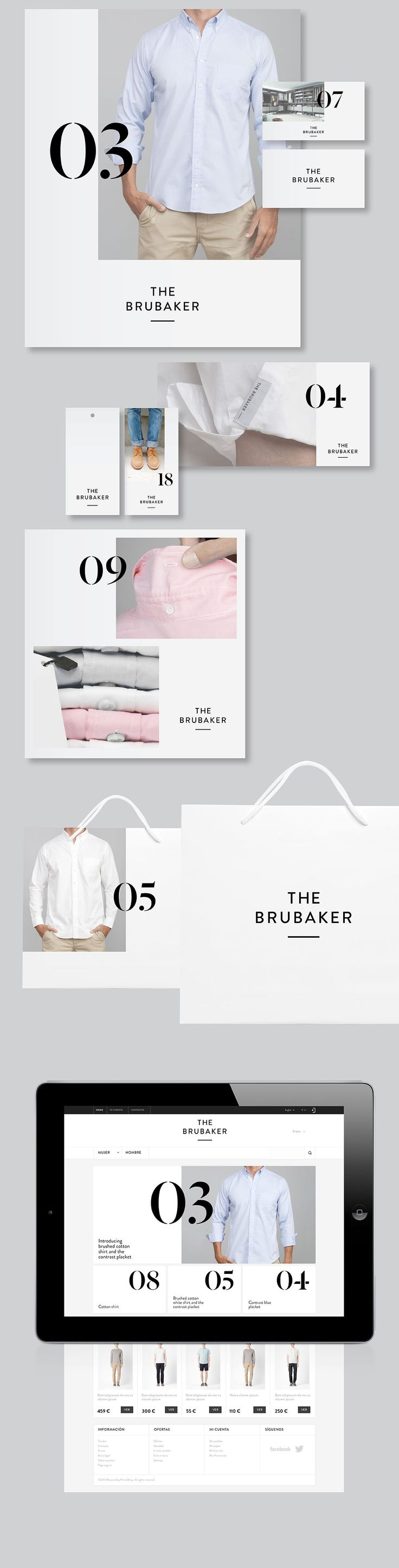 The Brubaker - Identidad y Piezas Gráficas transition from booklet- bag - app