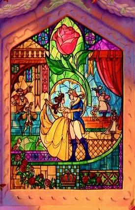 Beauty & the Beast Window...I want this for my future house.