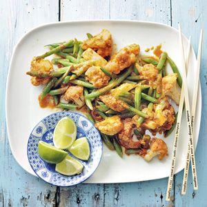 Recept - Gewokte bloemkool met rode curry - Allerhande