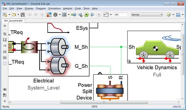 Hev Model In Simscape Driveline Coding System Power