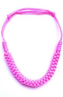 Pink zsinór nyaklánc