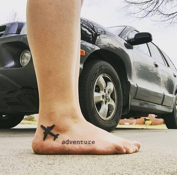 Adventure travel tattoo via Alex Ronan