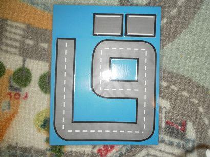 Arabic Letter Roads (print & laminate). Very cute idea.