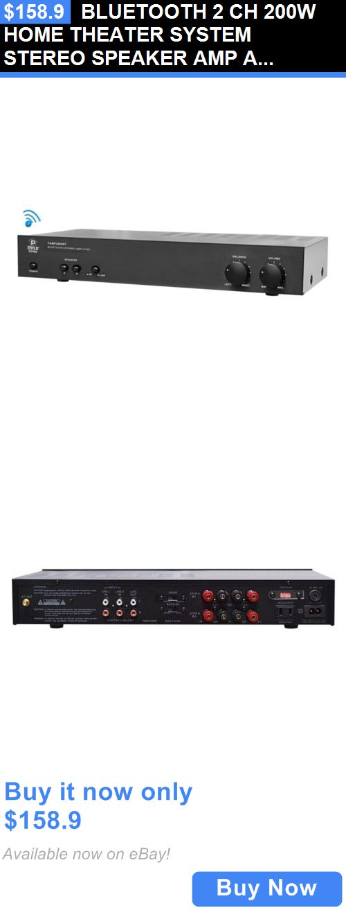 Home Theater Systems: Bluetooth 2 Ch 200W Home Theater System Stereo Speaker Amp Amplifier Receiver BUY IT NOW ONLY: $158.9