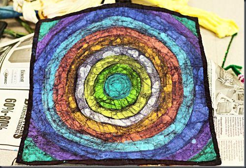 batik using crayons