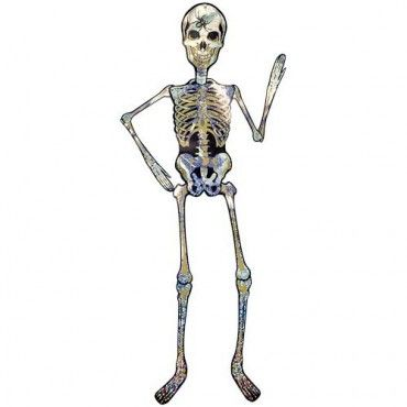 holographic halloween skeleton decoration 1