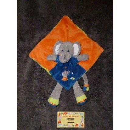 Nicotoy Elephant Plat Gris Orange Bleu Multicolore