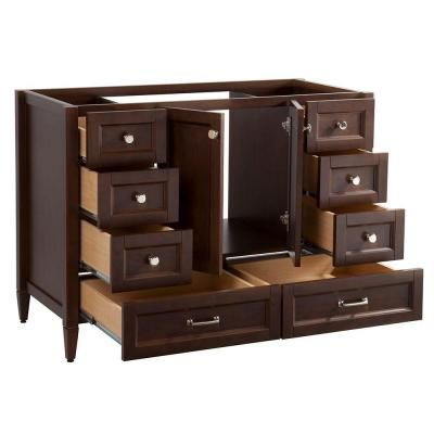 Claxby 48 In Vanity Cabinet Only In Cognac
