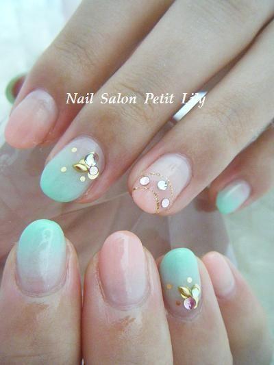 pastel nail art