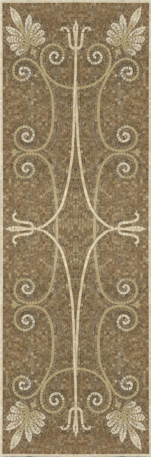 "Luxor mosaic 32"" x 96"" by Appomattox Tile Art"