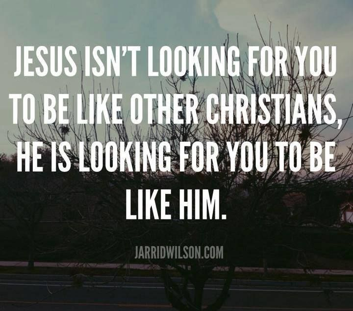 So good! What would it look like if people tried to be more like Jesus?