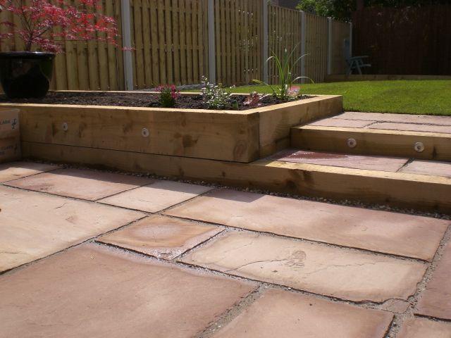 garden steps - Garden Design Using Sleepers
