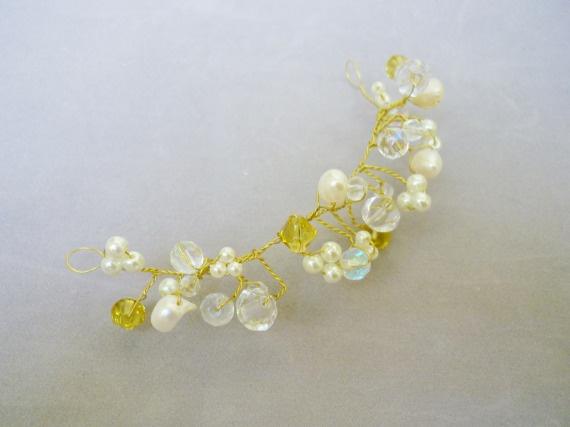 Racimo de cristales y perlas / FLORECER TOCADOS - Artesanio