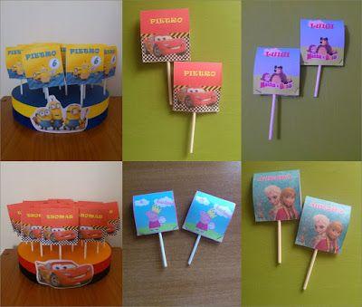 Sweet Table: 20 lecca lecca personalizzati party set festa di c...