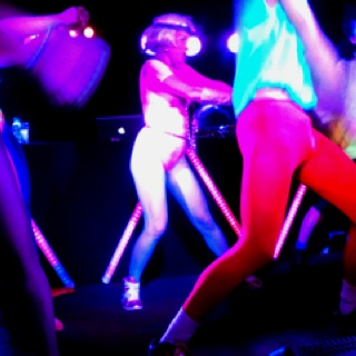All the best bits of Lycra at danceteria, Melbourne. To the beat of salt n peps push it. Push it real good...
