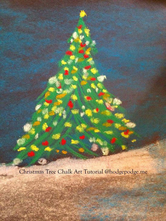 Chalk Christmas Tree Tutorial