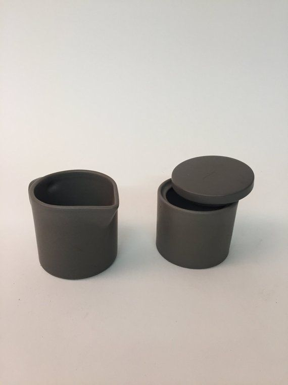 Post Modern Calvin Klein Ceramic Creamer And Sugar Ceramic Set Ceramics Creamer