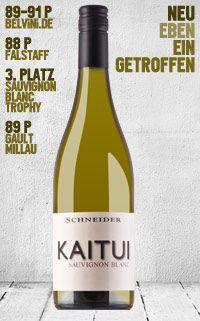 Markus Schneider KAITUI Sauvignon Blanc Pfalz trocken 2013 - http://weinblog.belvini.de/markus-schneider-kaitui-2013